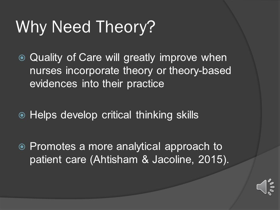 incorporate into nursing practice essay Incorporating nursing theory into practice theories as the basis for nursing practice seema r sulemani homeland university nurs 211 sf12 october 14, 2012 abstract theory development is the fundamental step for expansion of nursing knowledge the knowledge has been borrowed from different disciplines to build the nursing theoriesthe categorization of theories is based on their scope of practice.