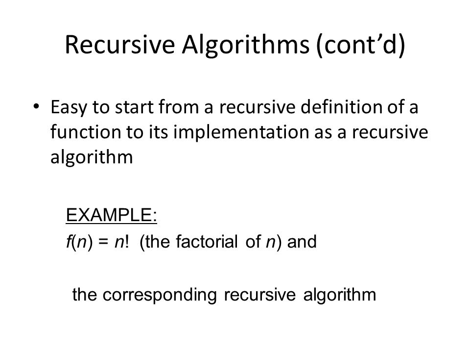how to understand recursive algorithms