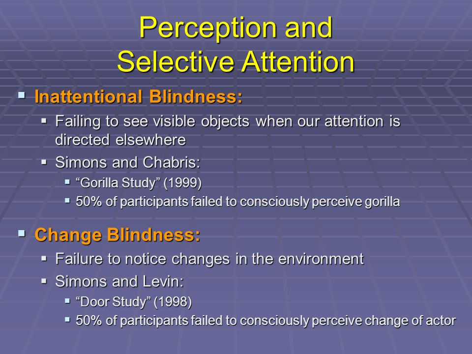 An overview of research on selective attention