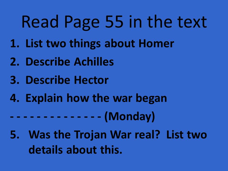 """a comparison of achiles and hector in homers the illiad The essay provides the comparison and contrast of achilles who is a  (""""compare achilles and odysseus based in the  the iliad: achilles in contrast to hector."""