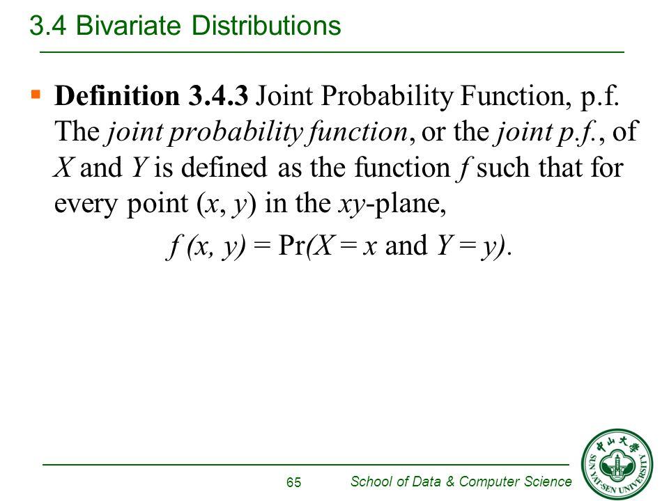 bivariate random varible and joint pdf
