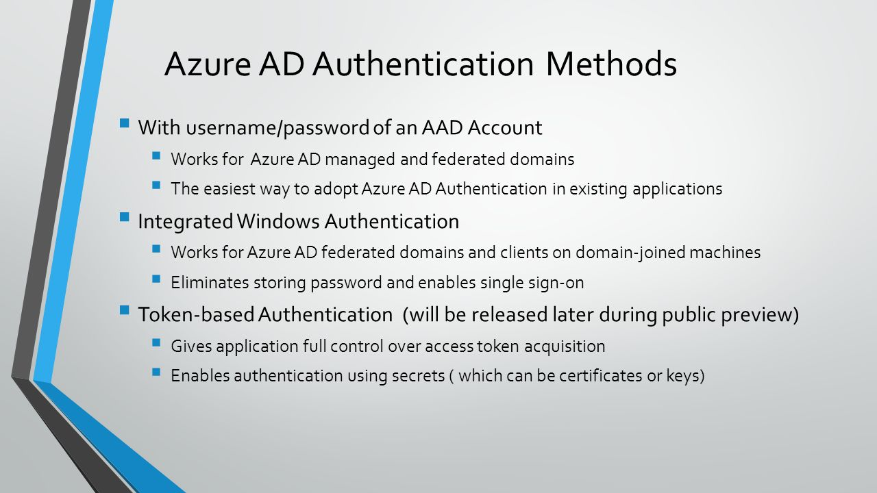 Mirek sztajno sql server security pm ppt video online download azure ad authentication methods 1betcityfo Image collections