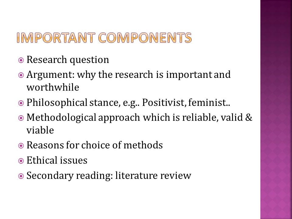 dissertation proposal components