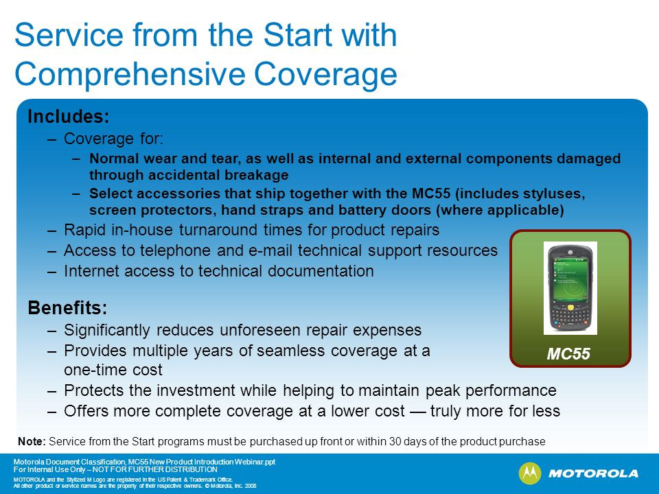 Service from the Start with Comprehensive Coverage