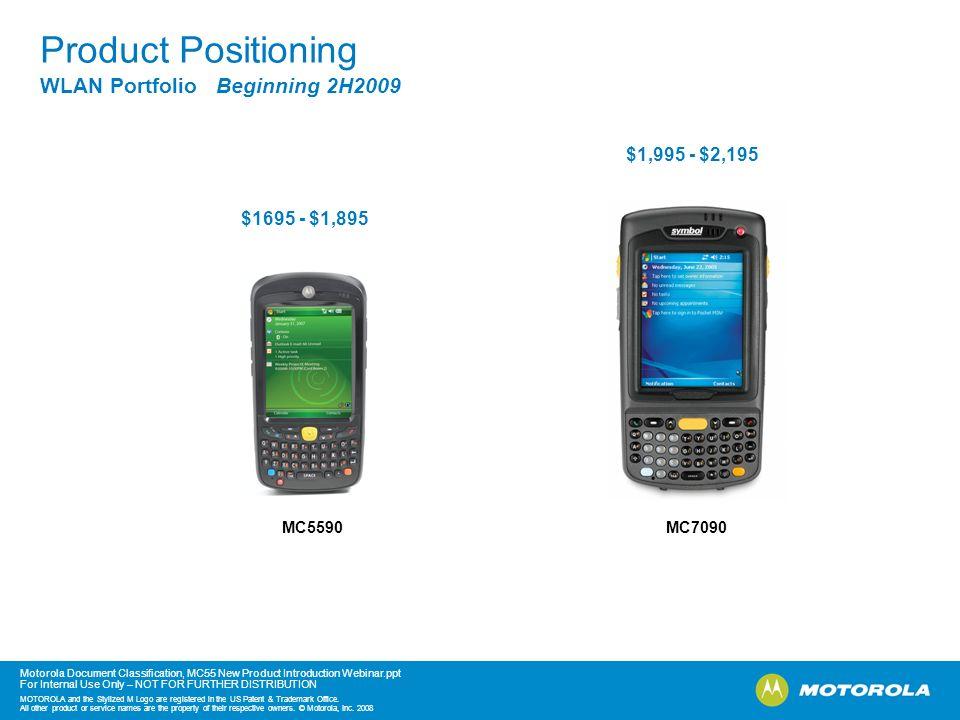 Product Positioning WLAN Portfolio Beginning 2H2009