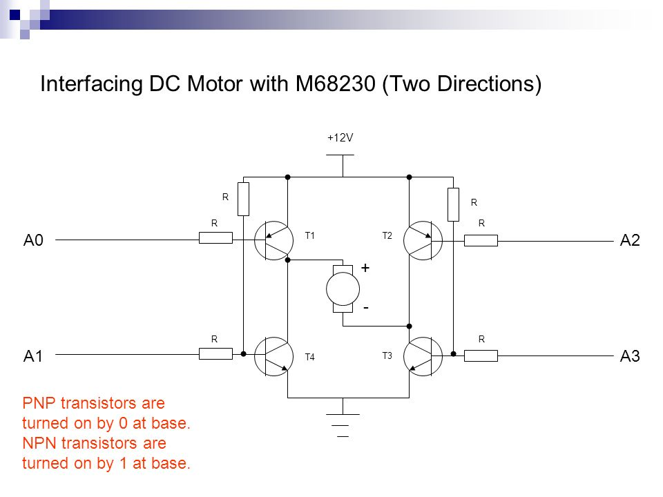 Interfacing DC Motor with M68230 (Two Directions)