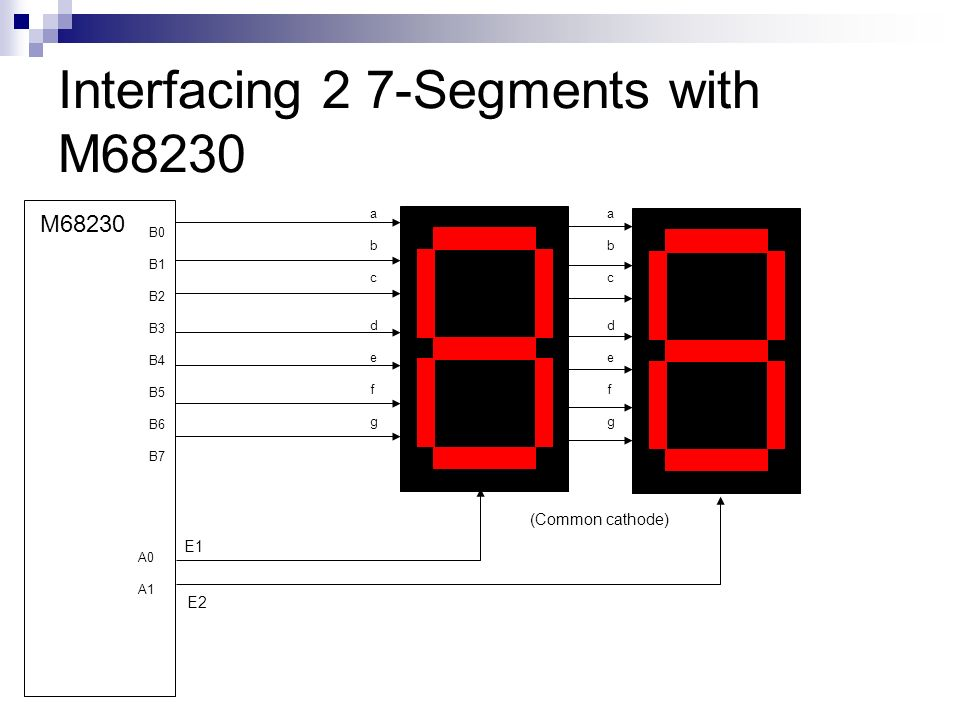 Interfacing 2 7-Segments with M68230