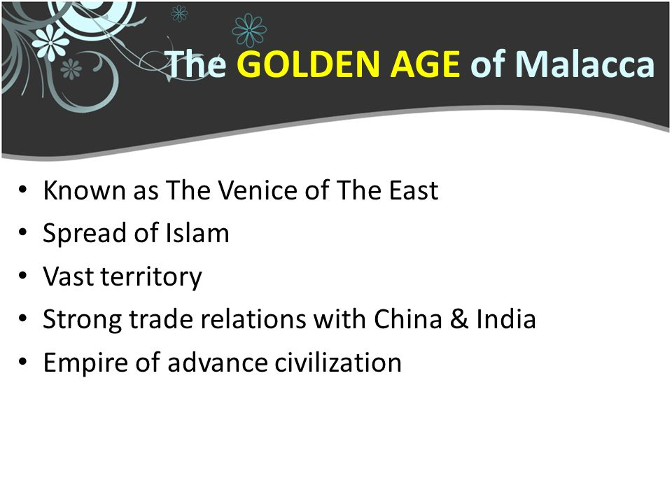 fall of malacca empire To the fall of the malacca sultanate political 1 weak ruling government (root cause to the decline of the malacca sultanate) overdependence on tun perak, who held the position of bendahara for almost 50 years (no other successor capable of running malacca after his death) list of .