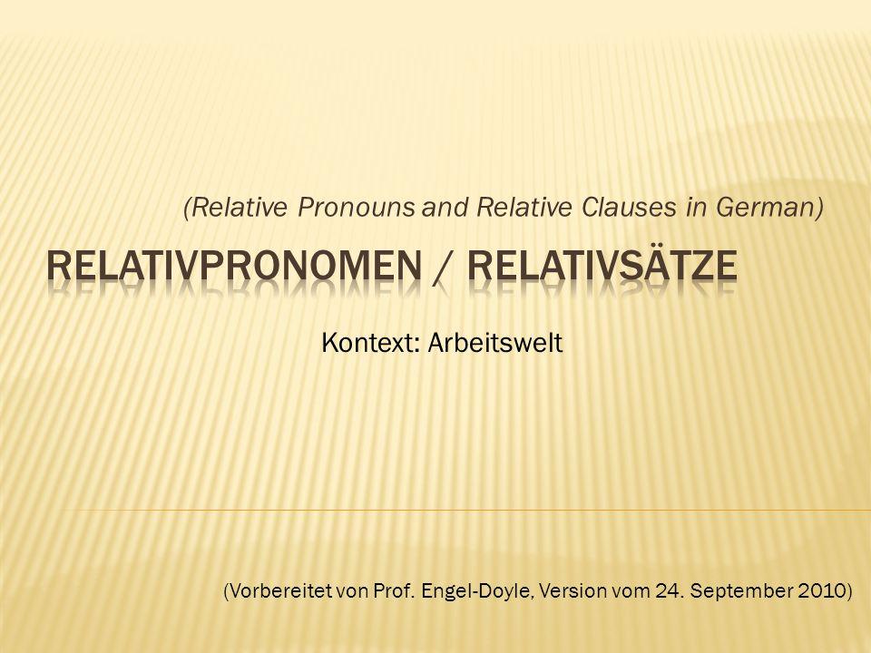 relativpronomen relativstze - Relativsatze Beispiele