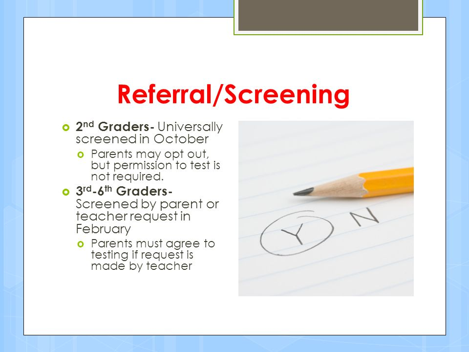 5 Referral/Screening ...