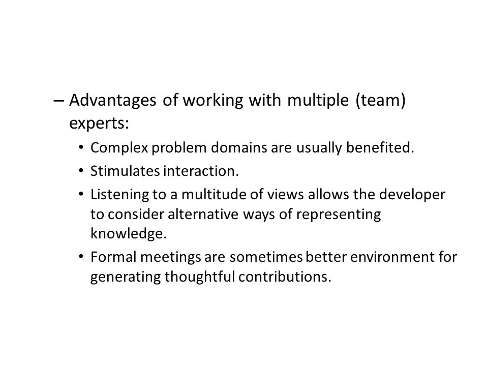 advantages of working in a team essay Learn tips for responding and examples of the best job interview  other, but  highlighting the benefits of both approaches will make you a more.