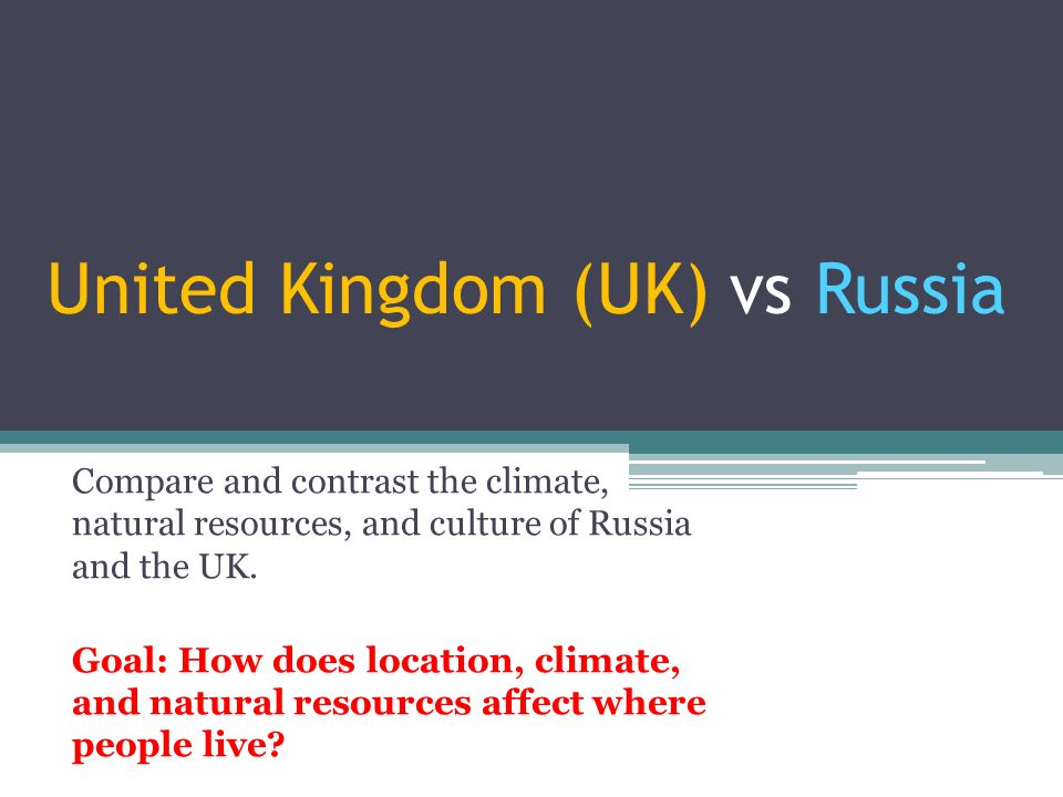 russian federation and united kingdom comparison Greenhouse gas inventory data - comparison by gas please select two different parties for comparison.