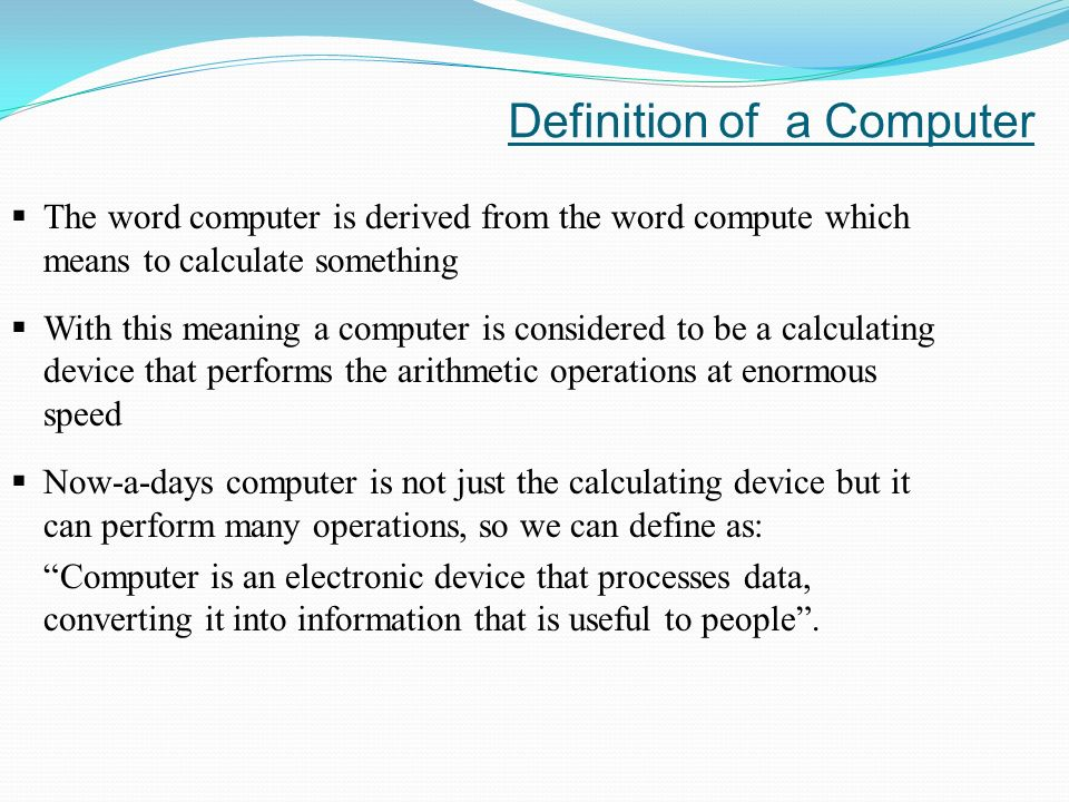 definition of computers
