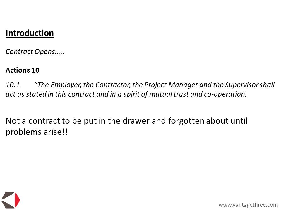 the introduction of nec3 or the new engineering contract Launched in 1991, the new engineering contract (nec) has become one of the uk's leading standard forms of contract for major construction and civil engineering projects currently in the third edition, popularly known as nec 3, it is a process based construction contract embodying project management.