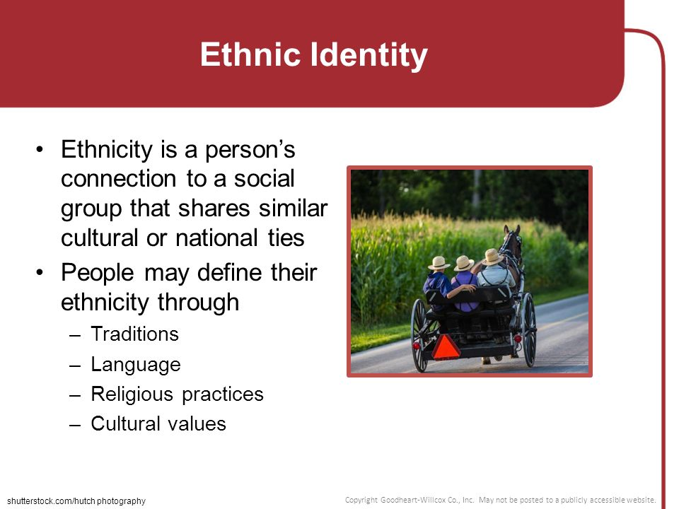 determining cultural identity through a persons ethnicity Language and social identity: cultural identity several writers have emphasised the relationship between language and ethnic identity (cho, 2000 in this context it seems that language supersedes notions of 'race' and ethnicity as determining factors for (subcultural) group.