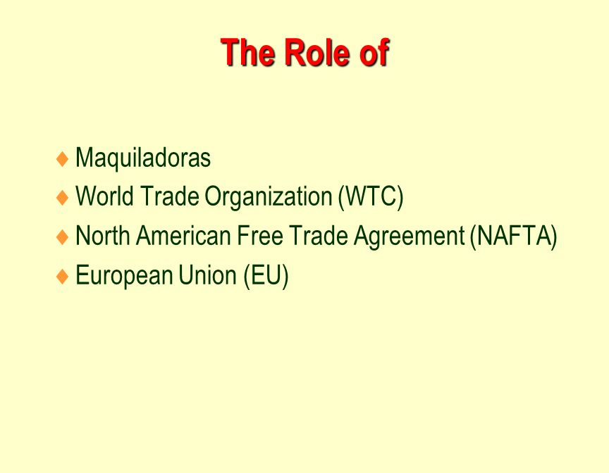 an overview of the company profile of north american free trade agreement The north american free trade agreement (nafta), implemented on january 1, 1994, is a trade agreement between the us, canada, and mexico nafta has played a critical role in the development and strengthening of various north american supply chains and has been effective for the overall us vehicle industry.