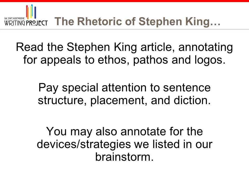 an analysis of the literary elements in it by stephen king What are the common themes in stephen king books update cancel ad by grammarly your writing, at its best.