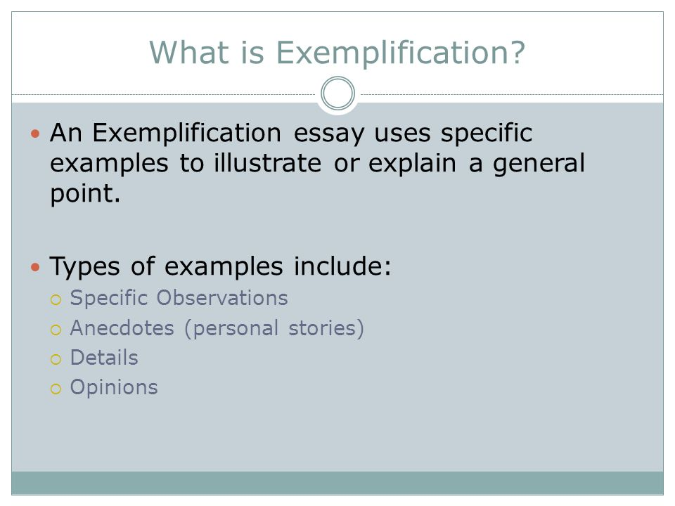 exemplification chapter ppt  what is exemplification