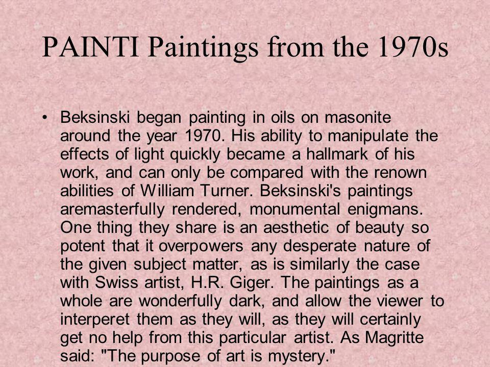 PAINTI Paintings from the 1970s
