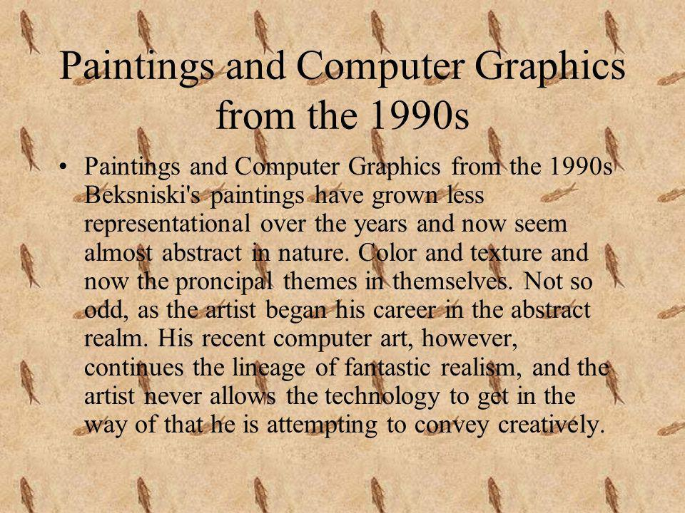 Paintings and Computer Graphics from the 1990s