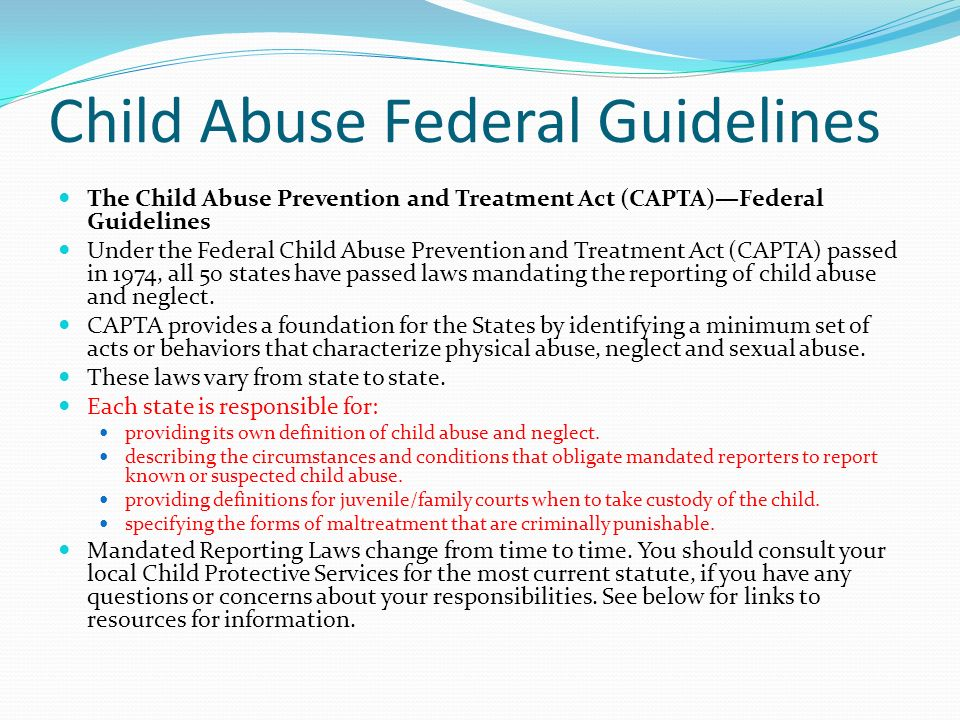Texas Child Abuse Laws