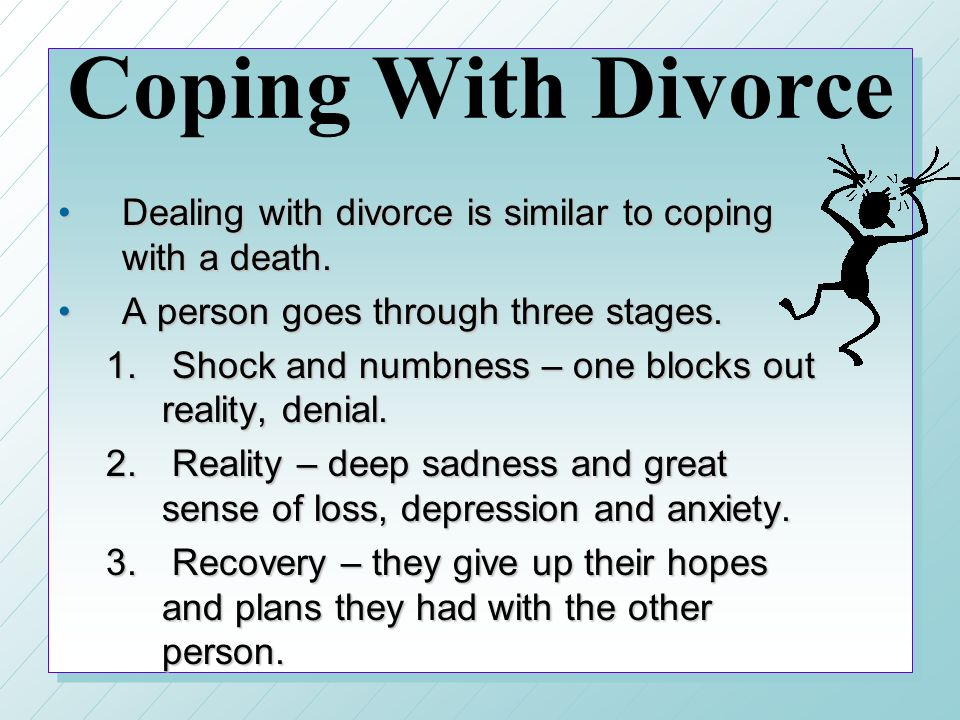 how to get out of depression after a divorce