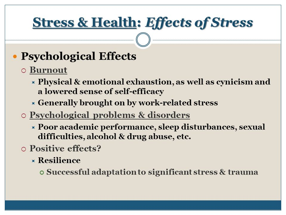 The Mind and Mental Health: How Stress Affects the Brain