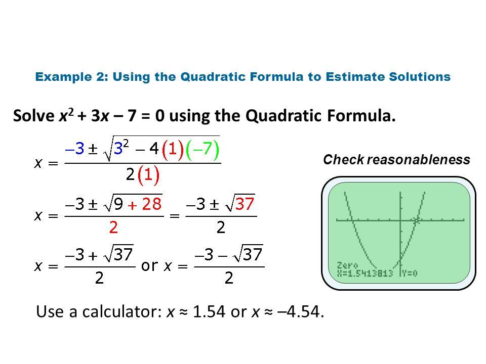 solving quadratic equations by quadratic formula worksheet pdf