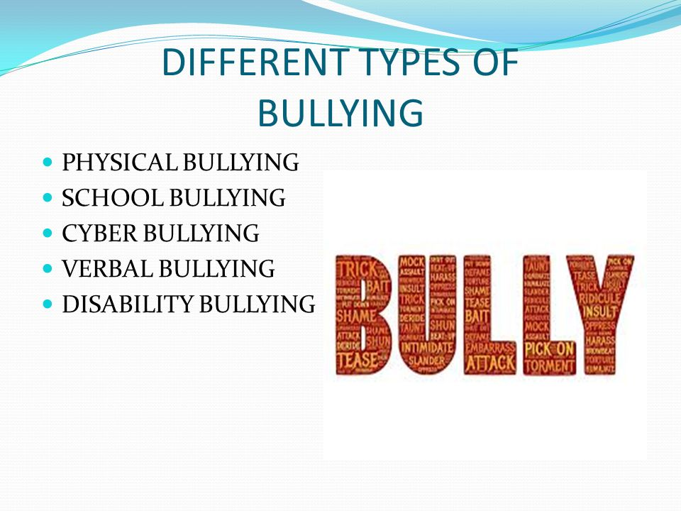 different types of cyber bullying Cyberbullying comes in many different varieties it can range from the straightforward types of bullying that involve traditional teasing and/or hate speech, to more cunning forms of internet harassment that are creatively deceptive and highly manipulative.