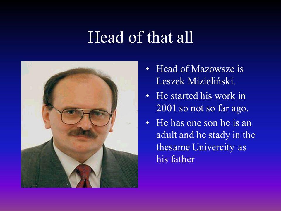 Head of that all Head of Mazowsze is Leszek Mizieliński.