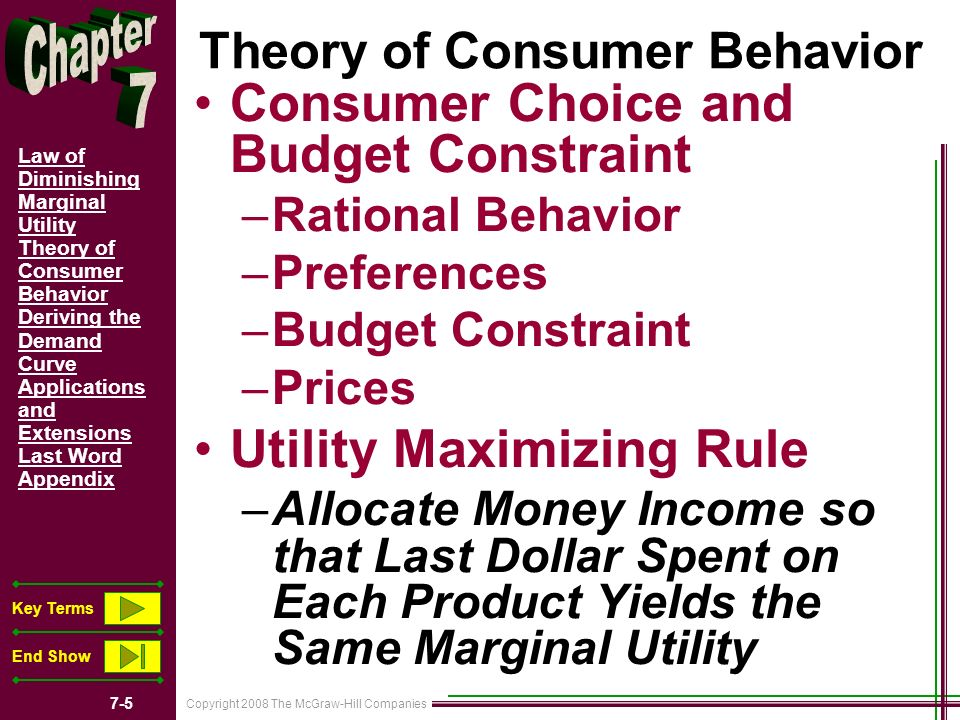 maximizing utility the price of everything A an example of diminishing marginal utility  d prices 2 utility maximizing rule  to obtain the greatest utility the consumer should allocate money income so.