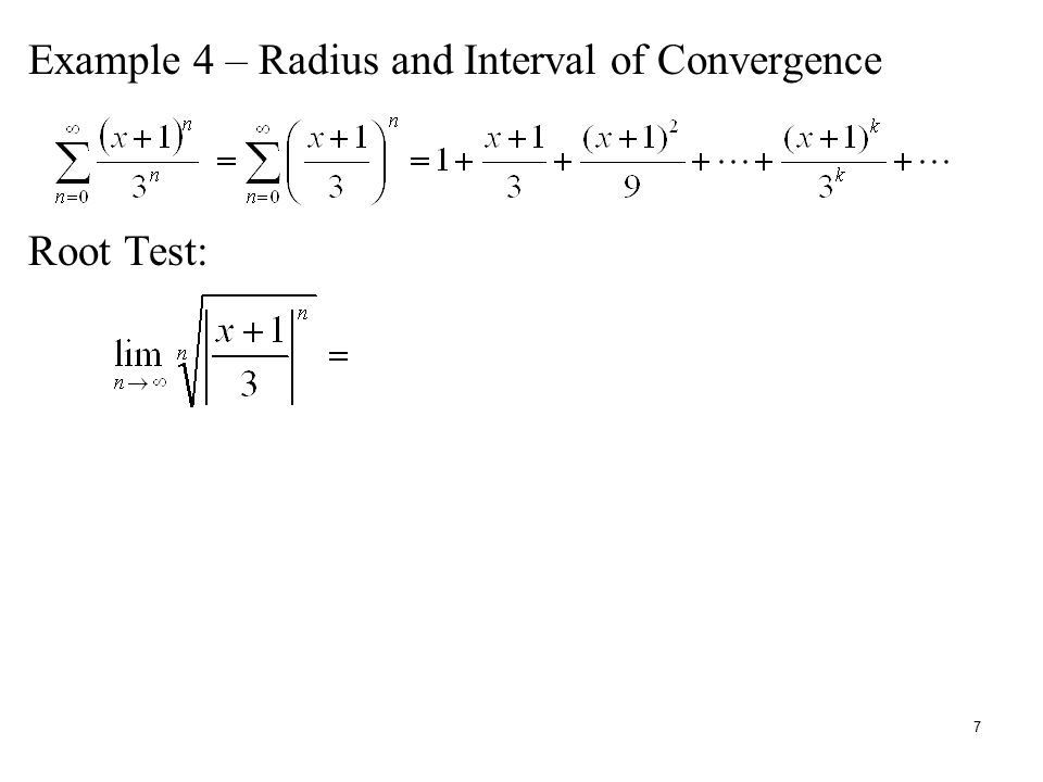 relationship between root test and ratio convergence
