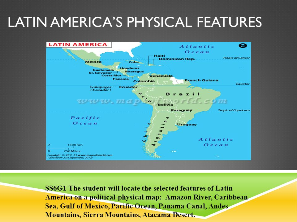 LATIN AMERICAS PHYSICAL FEATURES Ppt Video Online Download - Political map of panama caribbean sea