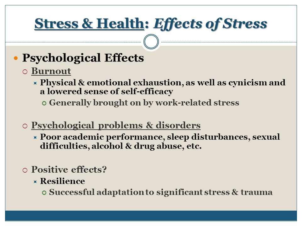 stress effects and healthy stress management Learn how to overcome the effects of stress at discovery health  accept the  causes and focus on managing stress — because it will never be completely.