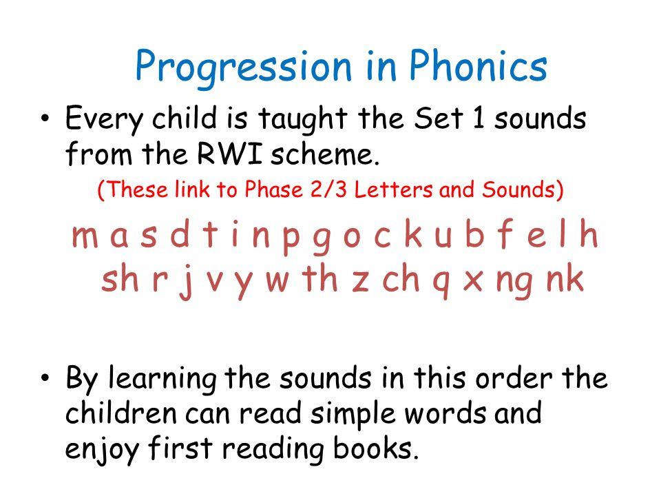 8 Progression In Phonics