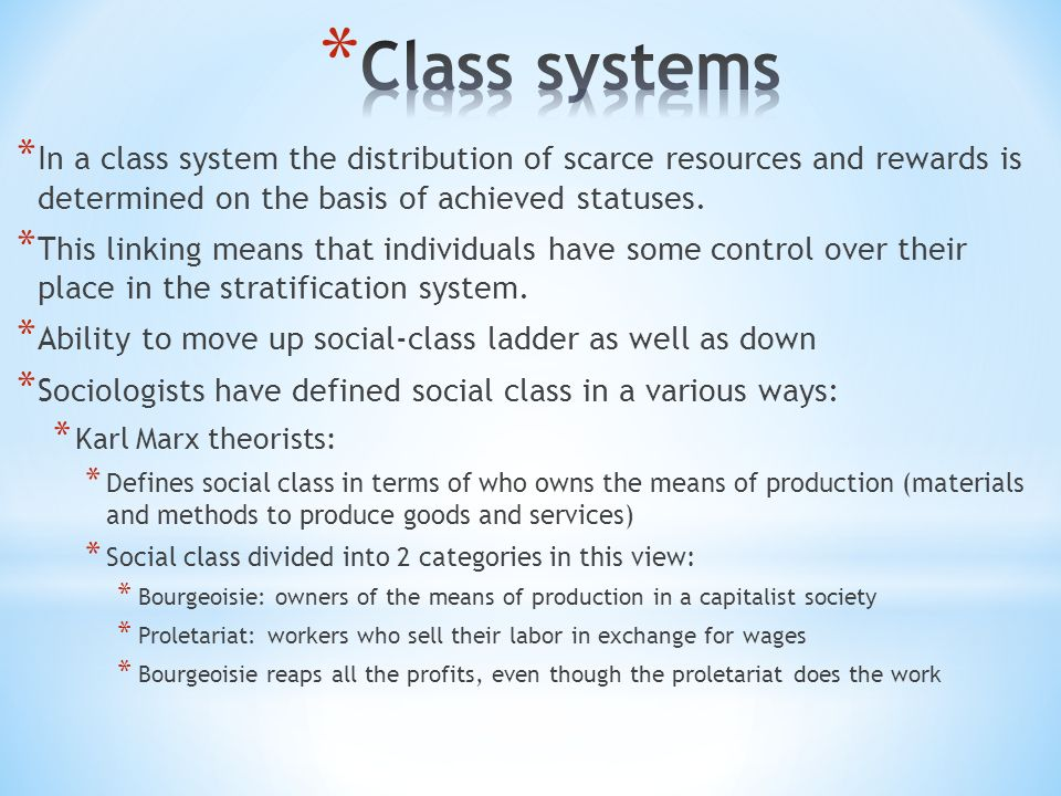 Systems of Stratification - ppt video online download
