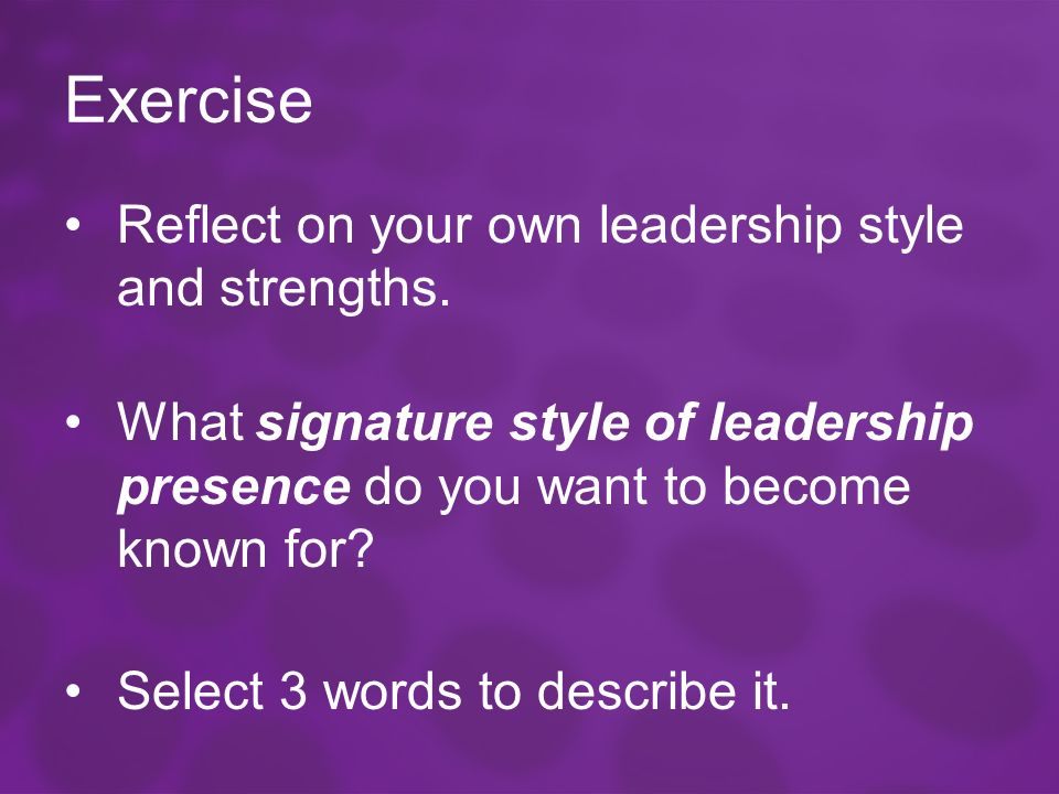 describe your leadership style