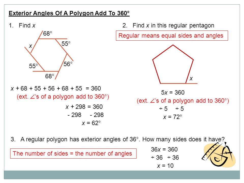 Geometry ppt video online download What do exterior angles of a triangle add up to