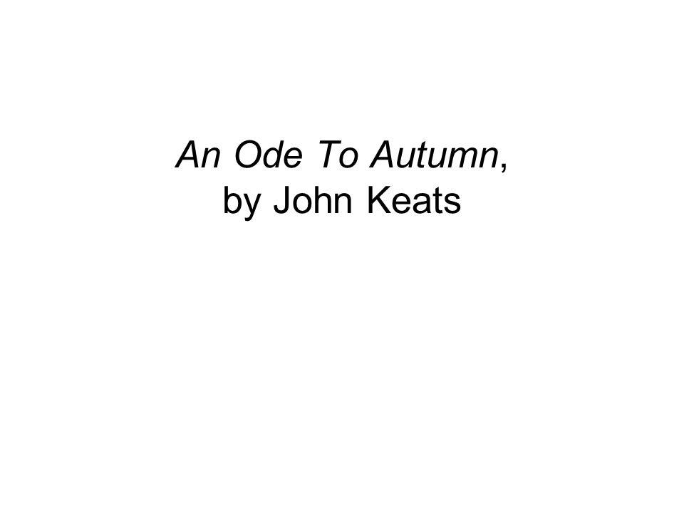 to autumn keats