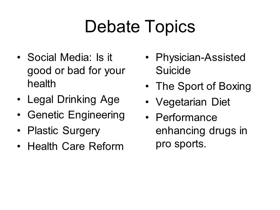 good debate essay topics Everyone likes to argue—whether they like to admit it or not but when it comes to   what makes a good essay topic though you may know.
