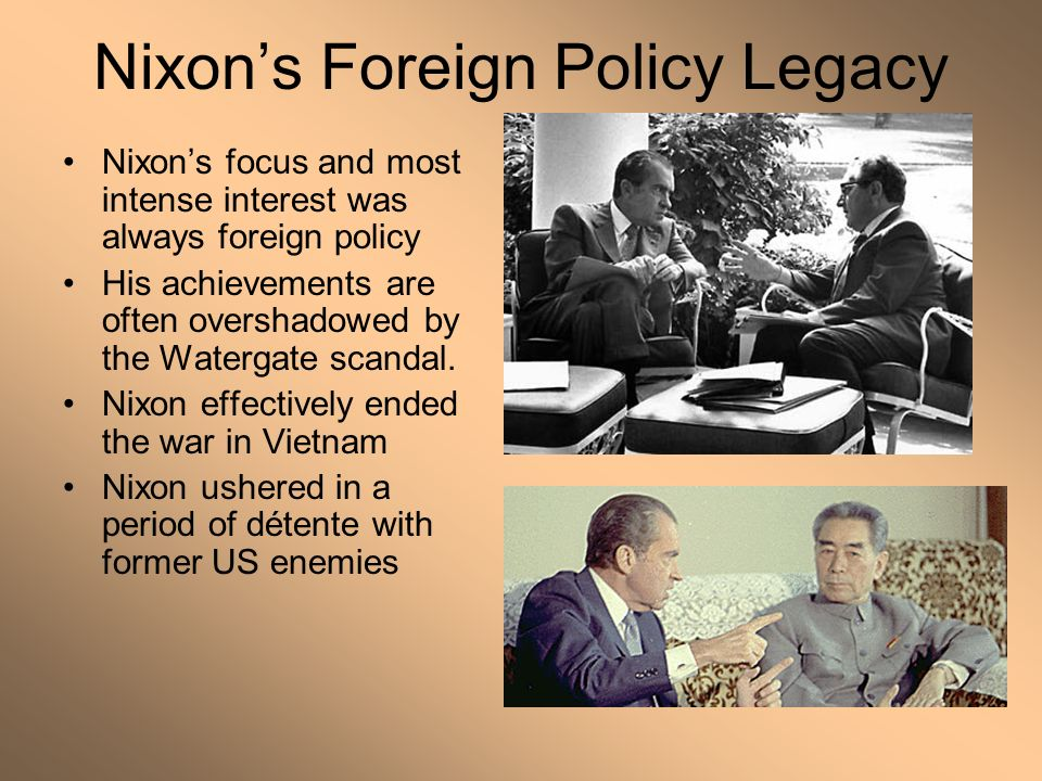 11 Nixon's Foreign Policy Legacy