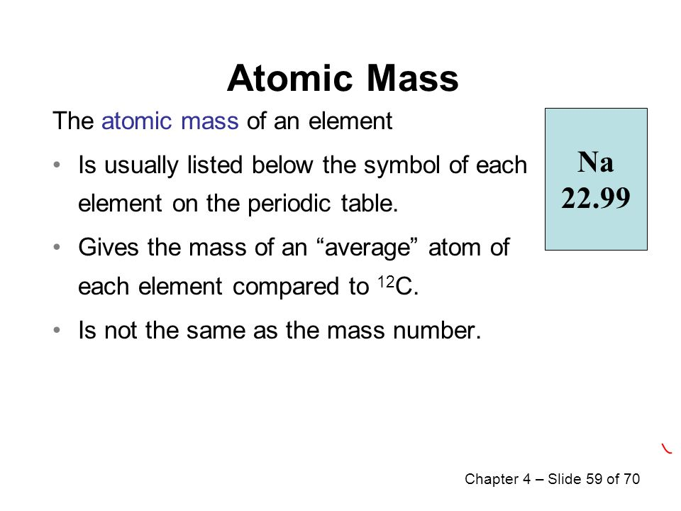 Chapter 4 atoms and elements ppt video online download 59 atomic mass na urtaz Images