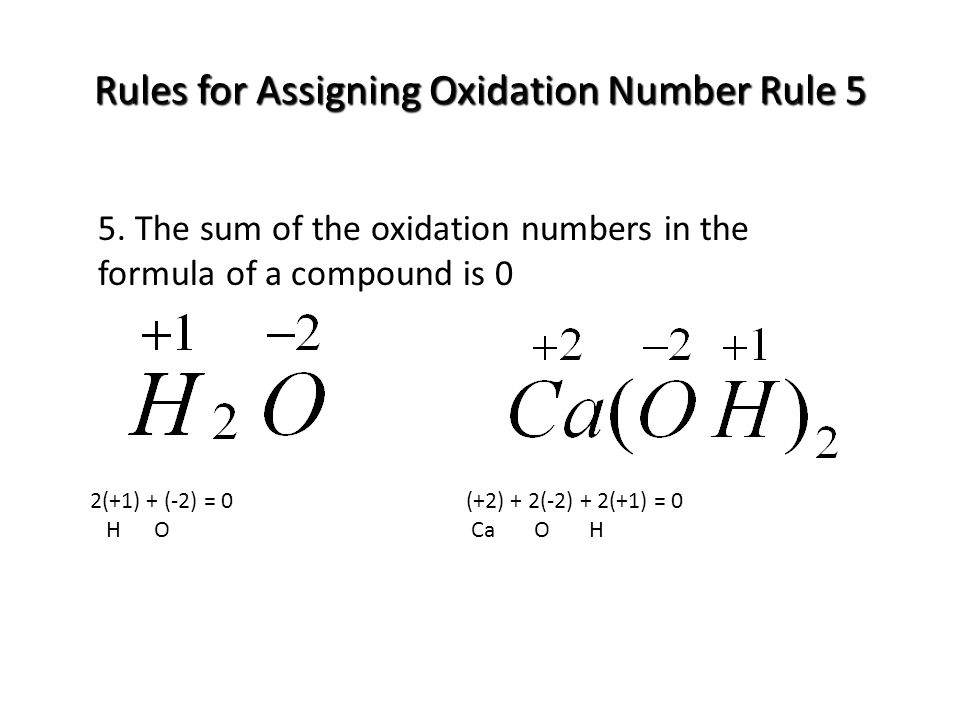 how to find oxidation number of a compound