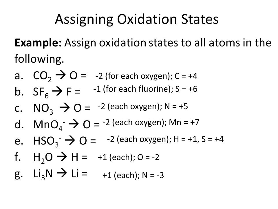 Assigning oxidation numbers youtube.