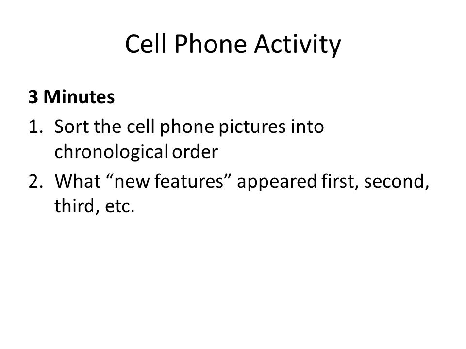 Cell Phone Activity 3 Minutes