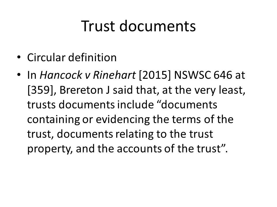 trustees rights powers and duties ppt download With trust documents definition