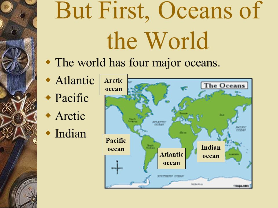 Maps Geography Ppt Download - Major oceans of the world map
