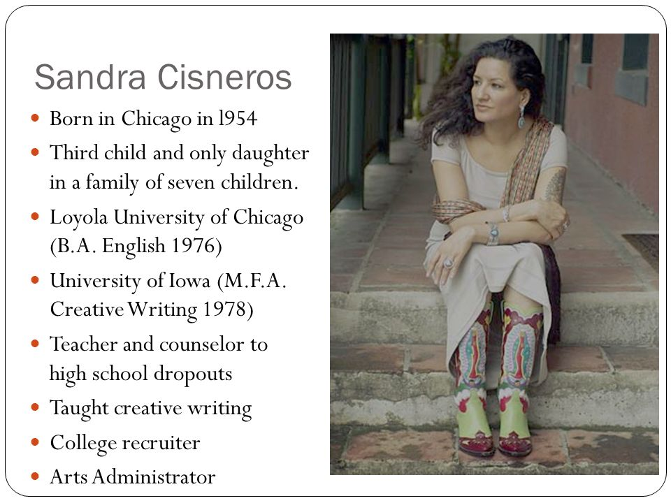 my name by sandra cisneros Sandra cisneros gives us the wonderful story of a young girl name esperanza in her short novel the house on mango street this is an interesting novel, because it.