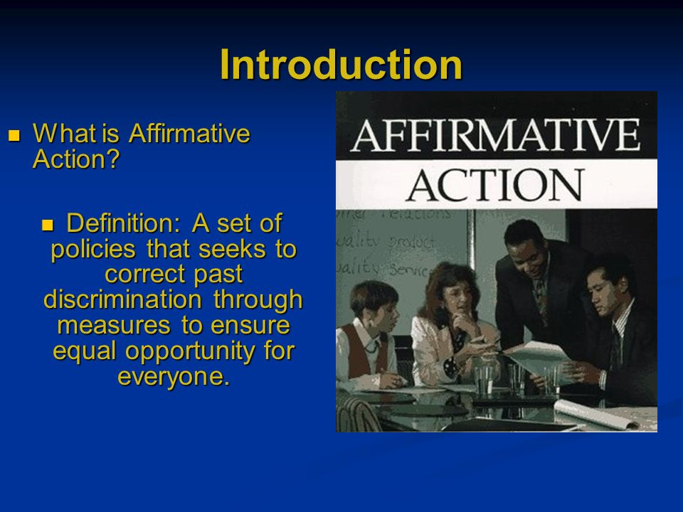 a comparison of the public opinion and policy on affirmative action Michigan adopted a policy of holistically  provide points of comparison  of mixed public opinion about affirmative action and the growing power of the.