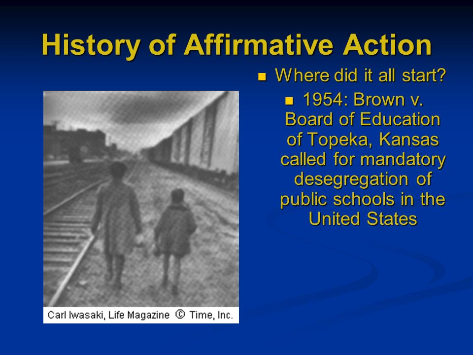 The affirmative action in the united